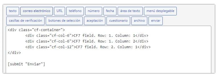 contact form 7 en dos columnas