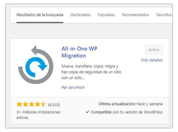 copia de seguridad wordpress plugin