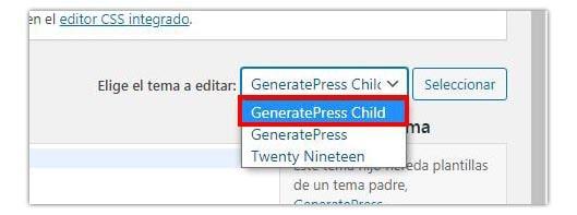 eliminar copyright generatepress
