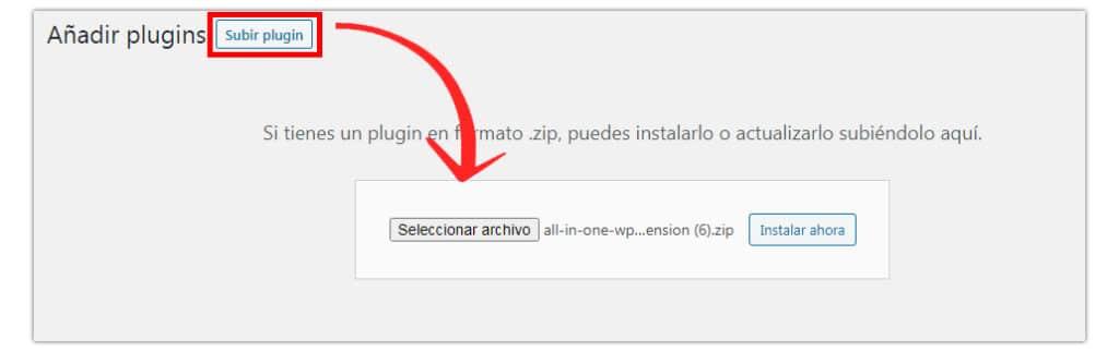 crear backup wordpress