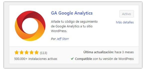añadir analytics wordpress