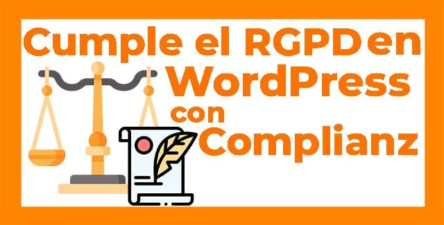 cumplir el RGPD en WordPress miniatura