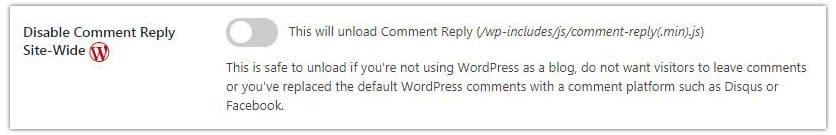 Desactivar comentarios de WordPress con Asset Cleanup