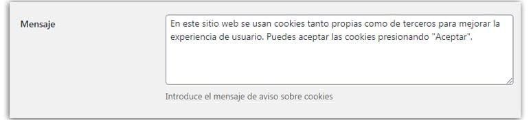 plugin aviso de cookies