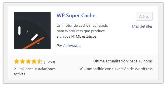 configurar wp super cache