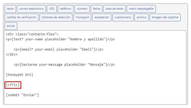 captcha de imagen para evitar el spam en contact form