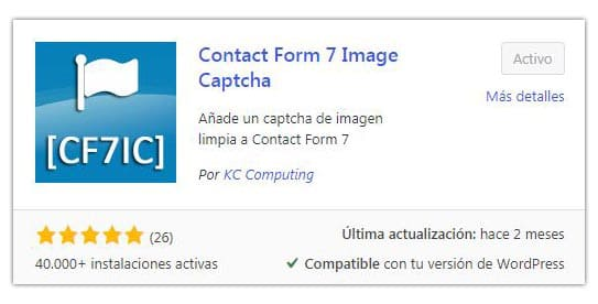 Captcha de imagen para CF7